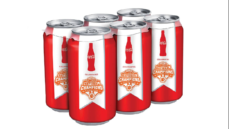 Coca-Cola Clemson Tigers commemorative cans hitting stores soon
