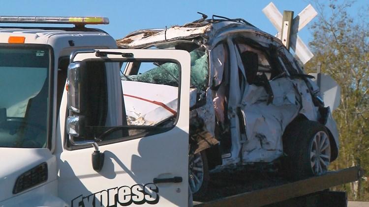 Chapin train crash vehicle