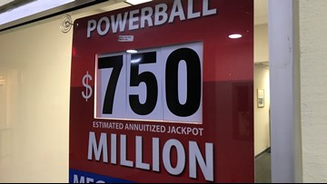 Odds of winning $750 million Powerball jackpot slightly better than last year's Mega Millions' billion