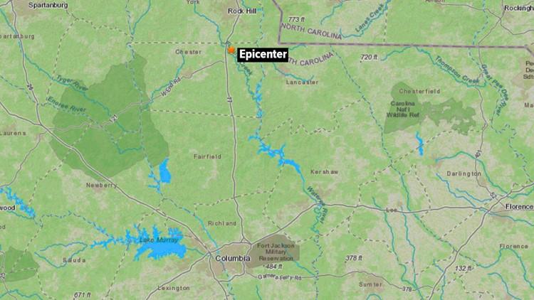 2.3 earthquake hit South Carolina Monday