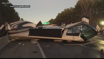 I-20 reopens after crash that spilled fuel on road