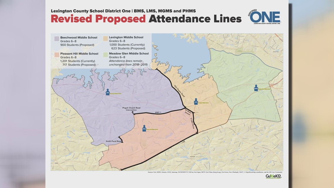 Lexington One makes new changes to proposed middle school lines