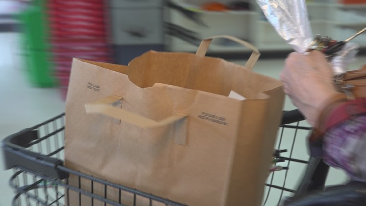 Paper bag at Camden Grocery store