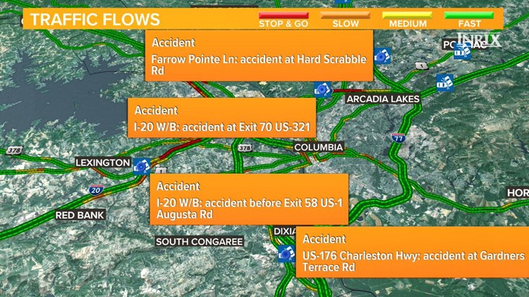 Multiple accidents cause traffic headaches in the Midlands