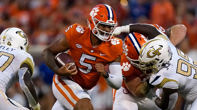 Clemson uses goal-line stand to hold off Georgia Tech