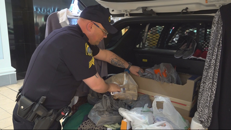 Police 'Stuff-a-cruiser' event brings car-loads of donations
