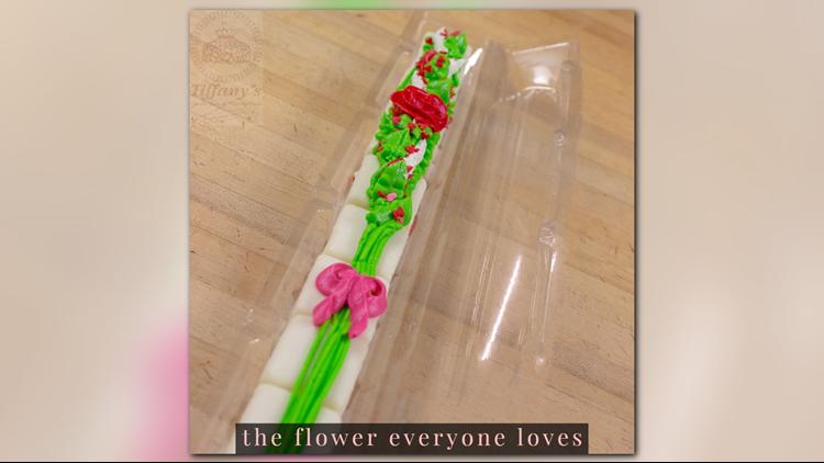 Tiffany's Bakery Long Stem Rose Petits Fours