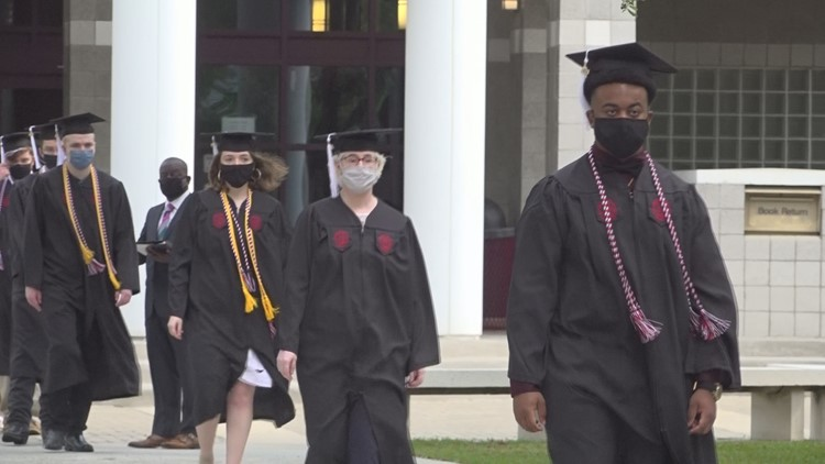 USC Sumter graduates walk across the stage for the first time since the pandemic