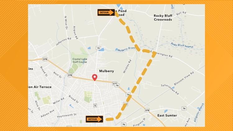 Sumter Road Closure Detour
