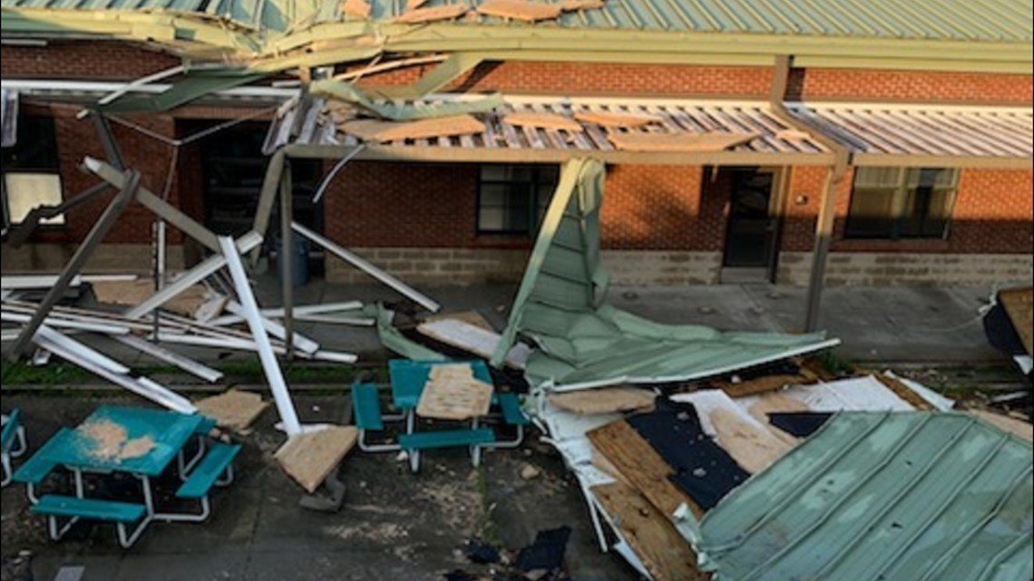 Severe weather causes extensive damage to Orangeburg County school