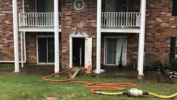 Flooded apartment on Garners Ferry displaces 10 people
