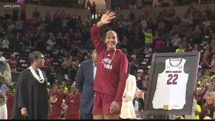 Dawn and A'ja maintain the coach-player relationship
