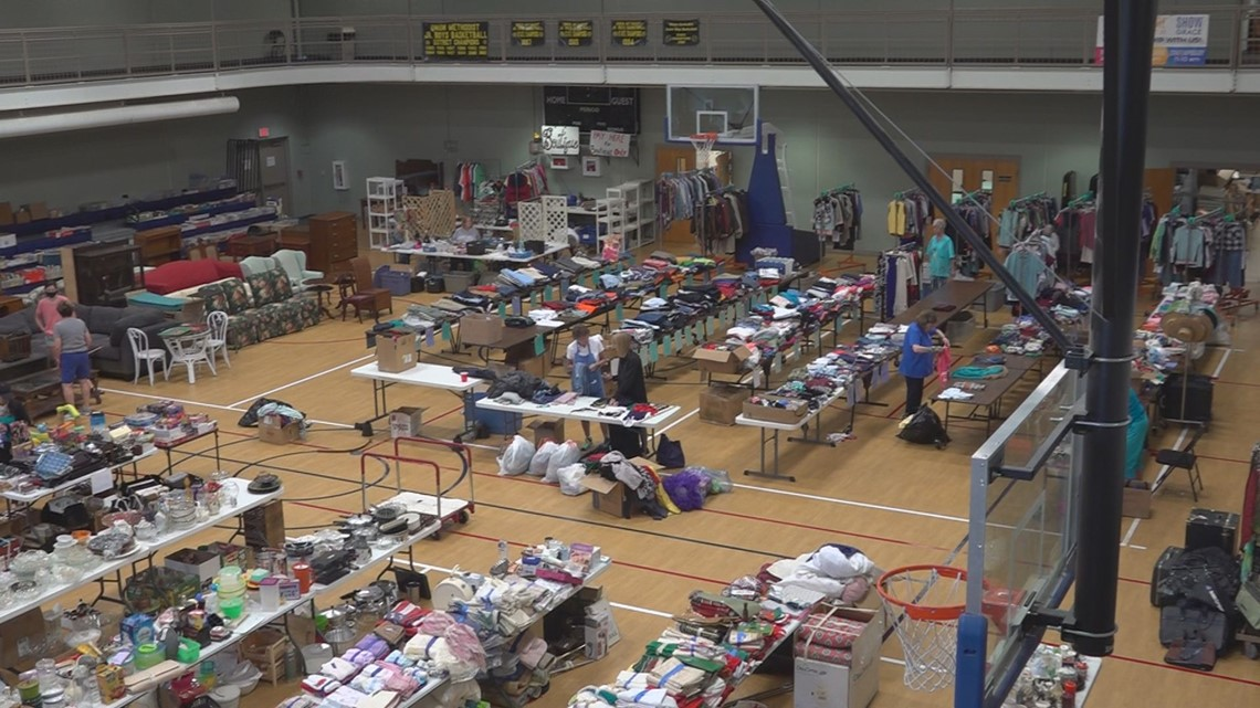 'All of it goes back into the community': Giant garage sale supports local community