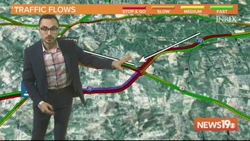 I-20 West at Augusta Road shut down due to black ice