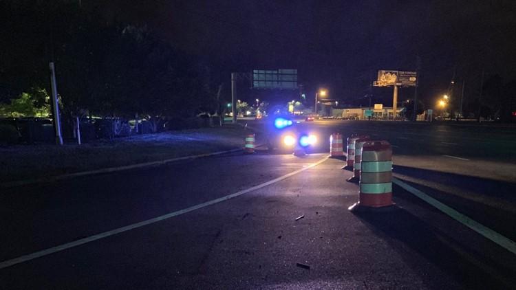 Lexington traffic detoured after semi overturns