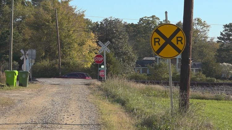 Walter McCartha Road railroad crossing in Chapin, SC