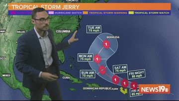 Hurricane Jerry forms in the Atlantic
