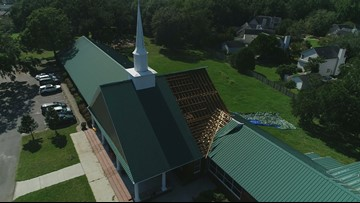 'The Lord has been very kind to us.' Church rebuilds after Hurricane Dorian rips off part of roof