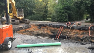Sinkhole opens near major intersection in Columbia