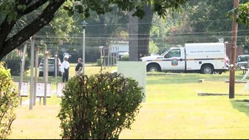Police investigators go back to Allen Benedict Court in Columbia