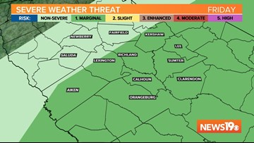Strong to severe storms possible this afternoon, evening