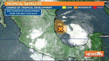 Tropical Update: National Hurricane Center monitoring an area in the Gulf of Mexico