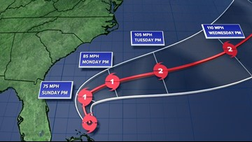 Tropical Storm Humberto gains some strength in the Atlantic