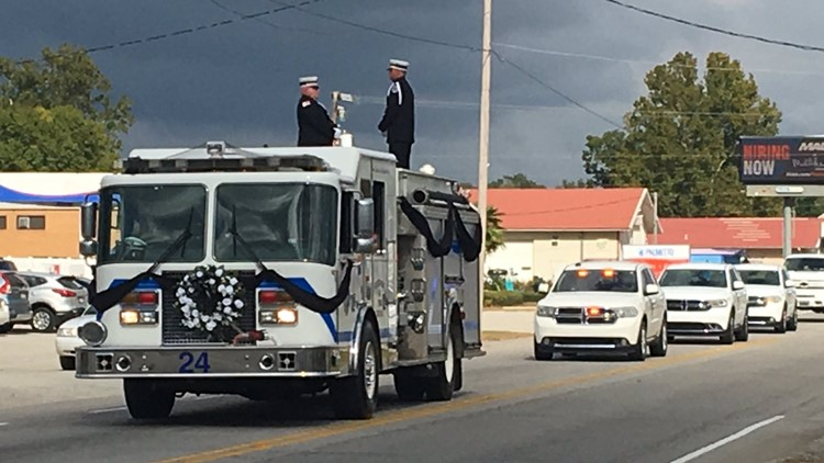 Funeral procession for Paul Quattlebaum