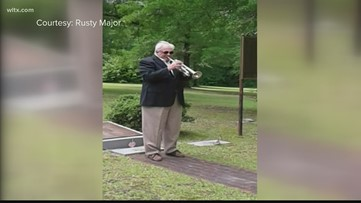 Camden man plays solo rendition of 'Taps' to honor the fallen on Memorial Day