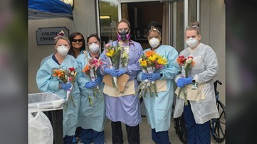Flower shop donates flowers to first responders after closing due to coronavirus