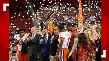Clemson's 2018 national championship team honored for academic feat