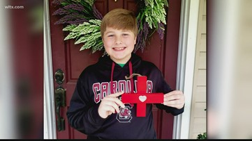 Local 5th-grader makes 'Crosses with Heart' to honor healthcare workers