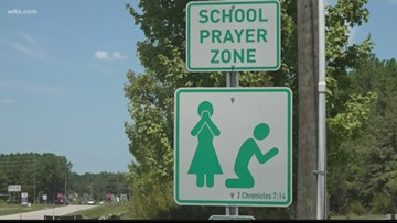 School prayer zone signs are popping up near SC schools