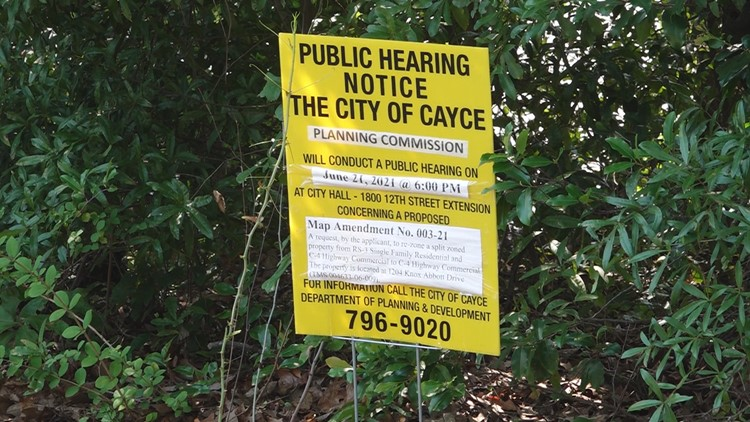 Neighborhood concerned about possible development in Cayce