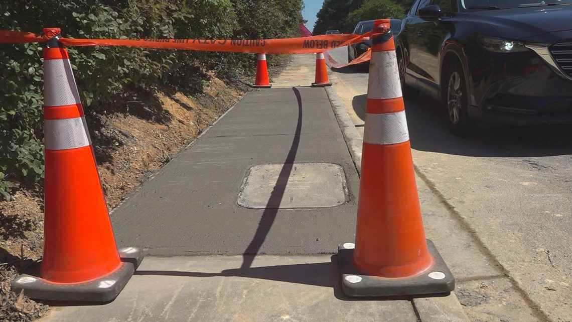 Sidewalk fixed after months of waiting