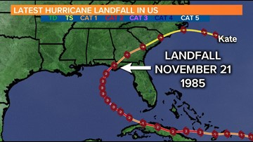 Tropical Storm Kate: the 1985 storm that moved through South Carolina
