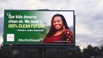 Upstate mom raises awareness for clean air through billboard campaign