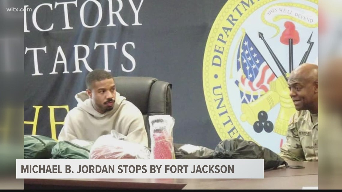 'Black Panther' actor Michael B. Jordan stops by Fort Jackson