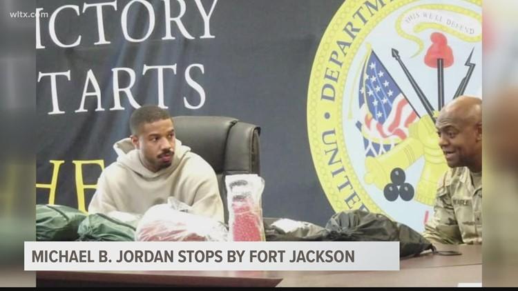 'Black Panther' actor Michael B. Jordan stops by Fort Jackson