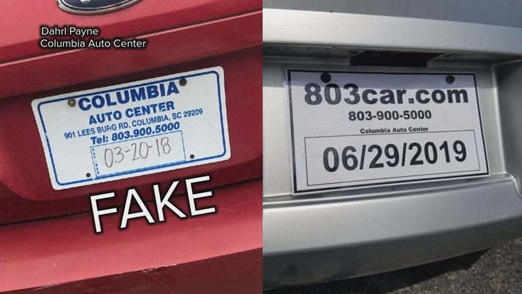 photo relating to Printable Temporary License Plate identify SC unveils contemporary, trackable momentary license plates