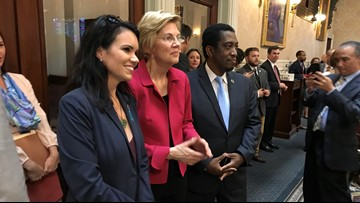 SC Senator endorses Biden as Warren visits Statehouse