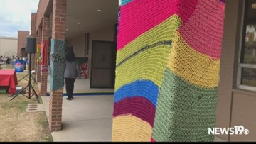 Yarn bombers are out at the SC State Fair