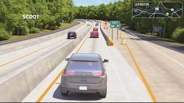 Traffic shift starts on I-20 in Lexington County this weekend