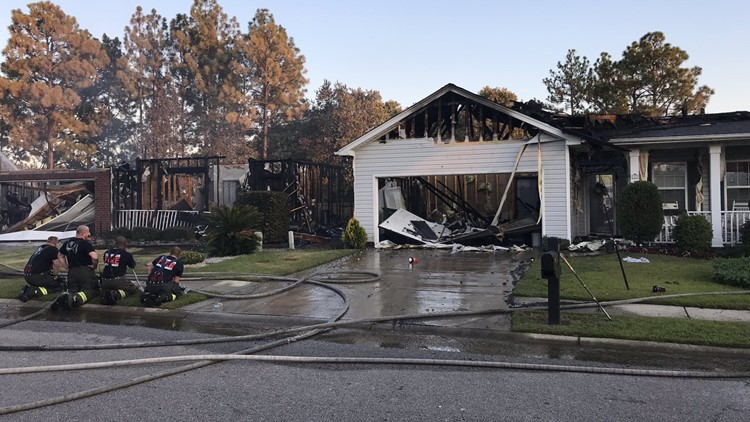 3 homes destroyed by fire in northeast Richland County subdivision |  wltx.com