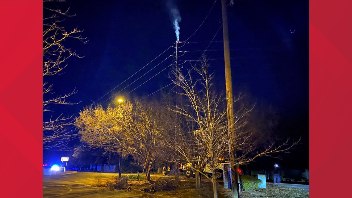 South Lake Drive in Lexington reopens after power pole fire