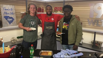 Joe Cooks!-Dutch Fork Football Players Make 7UP Pound Cake