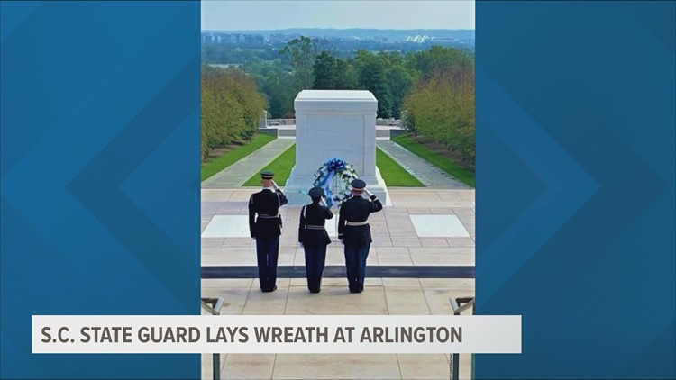 SC State Guard pays tribute at Tomb of the Unknown Soldier during its 100th year