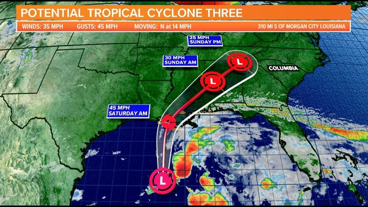 'Potential tropical cyclone' forms, could bring rain to SC