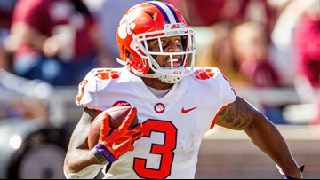 Clemson receiver suffers torn ACL
