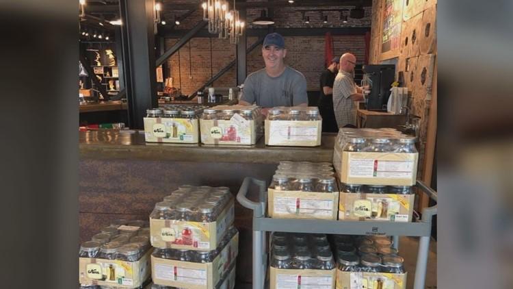 Mason Jars at Sumter Original Brewery